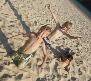Kids at Boambee Beach