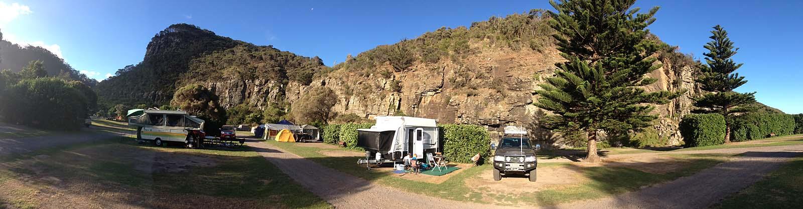 Cumberland River campsite.